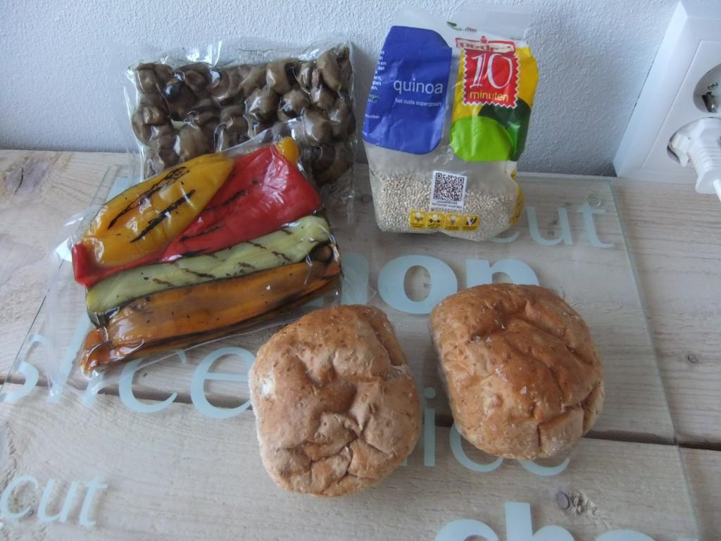 Gezonde Vegan Quinoaburger (V, V*, E, Fe)
