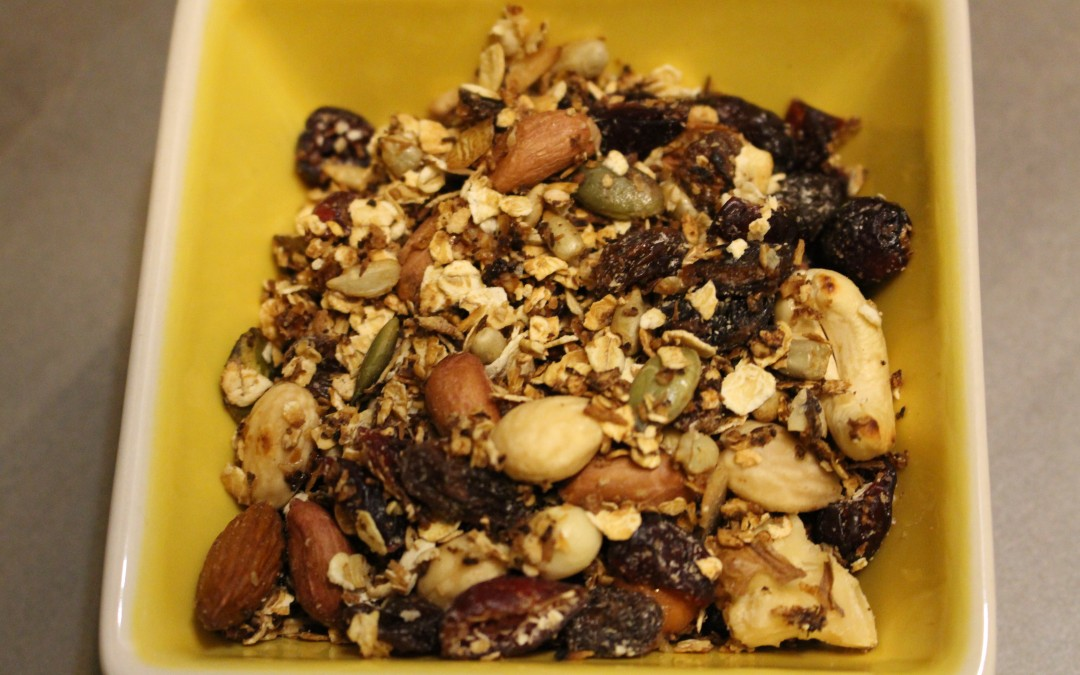 Zelf gemaakte granola (F, V, V*)