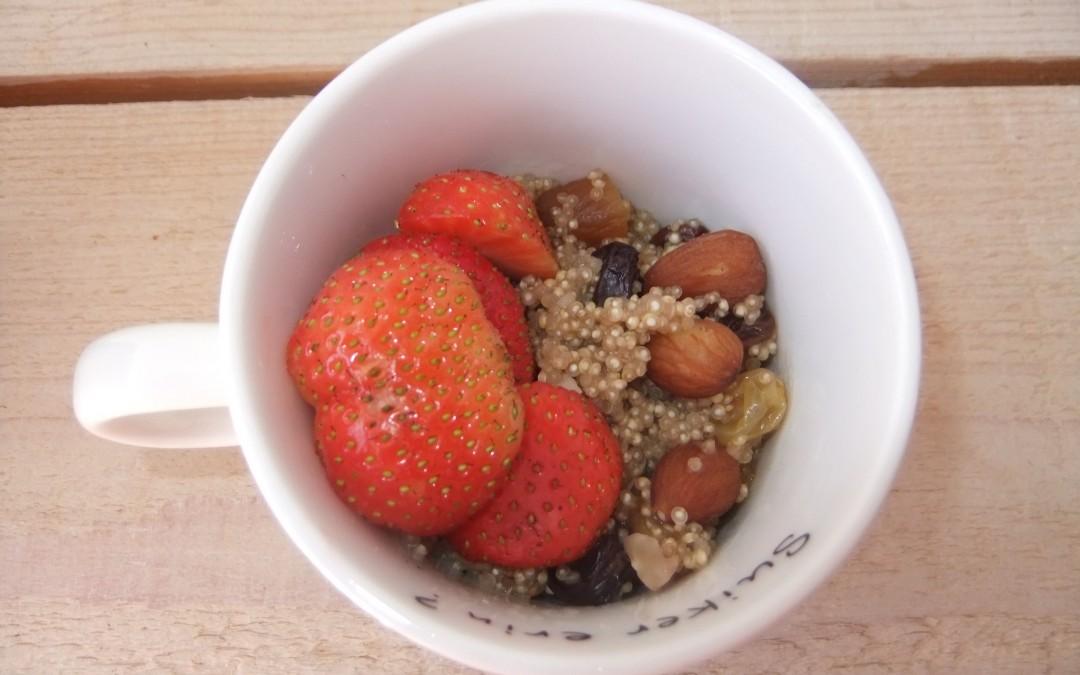 Vanille hazelnoten quinoa ontbijt (V, E, F, V*, Gl)