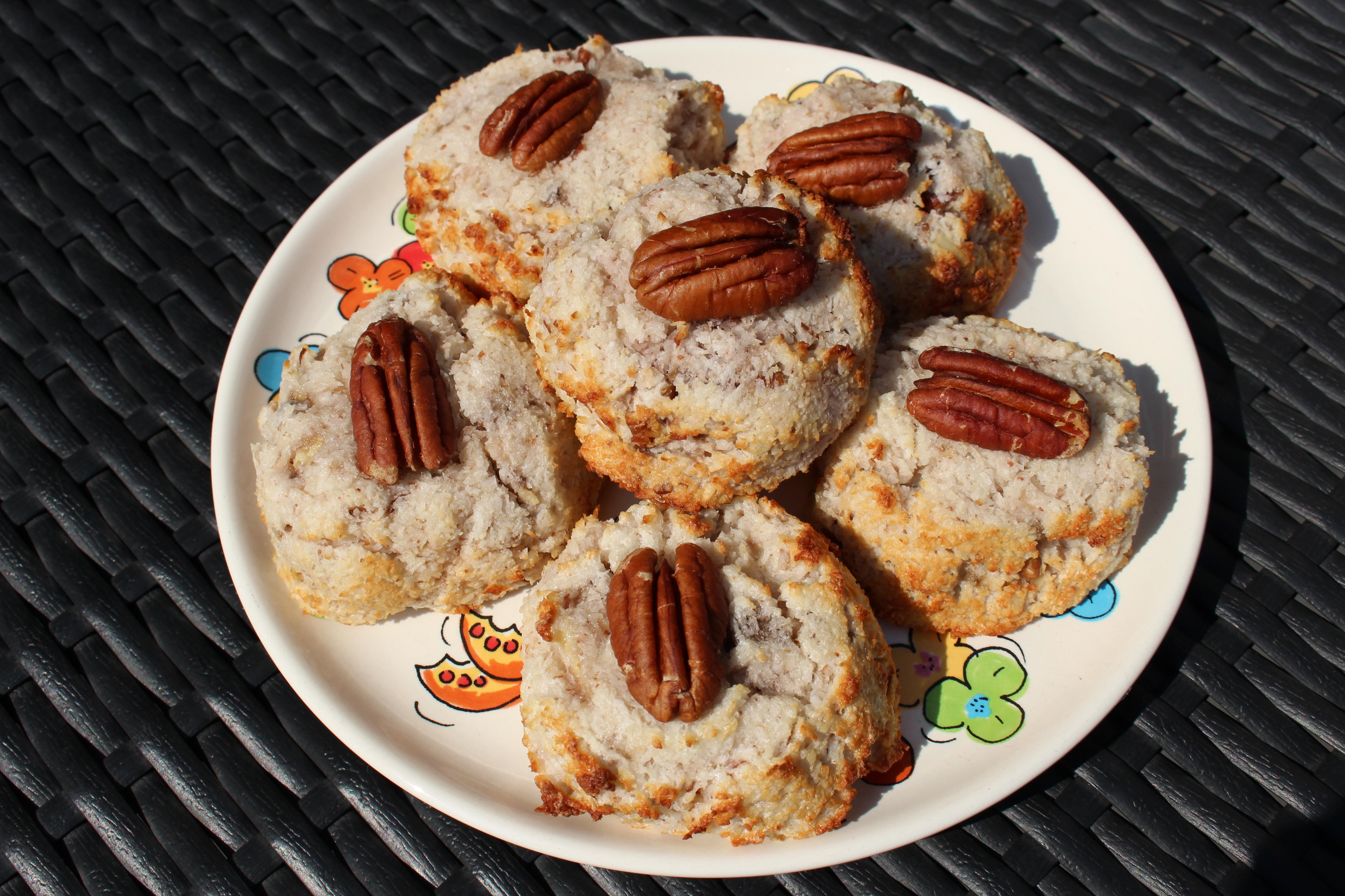 Glutenvrije kokos-nootkoekjes (V, F, E, Gl)
