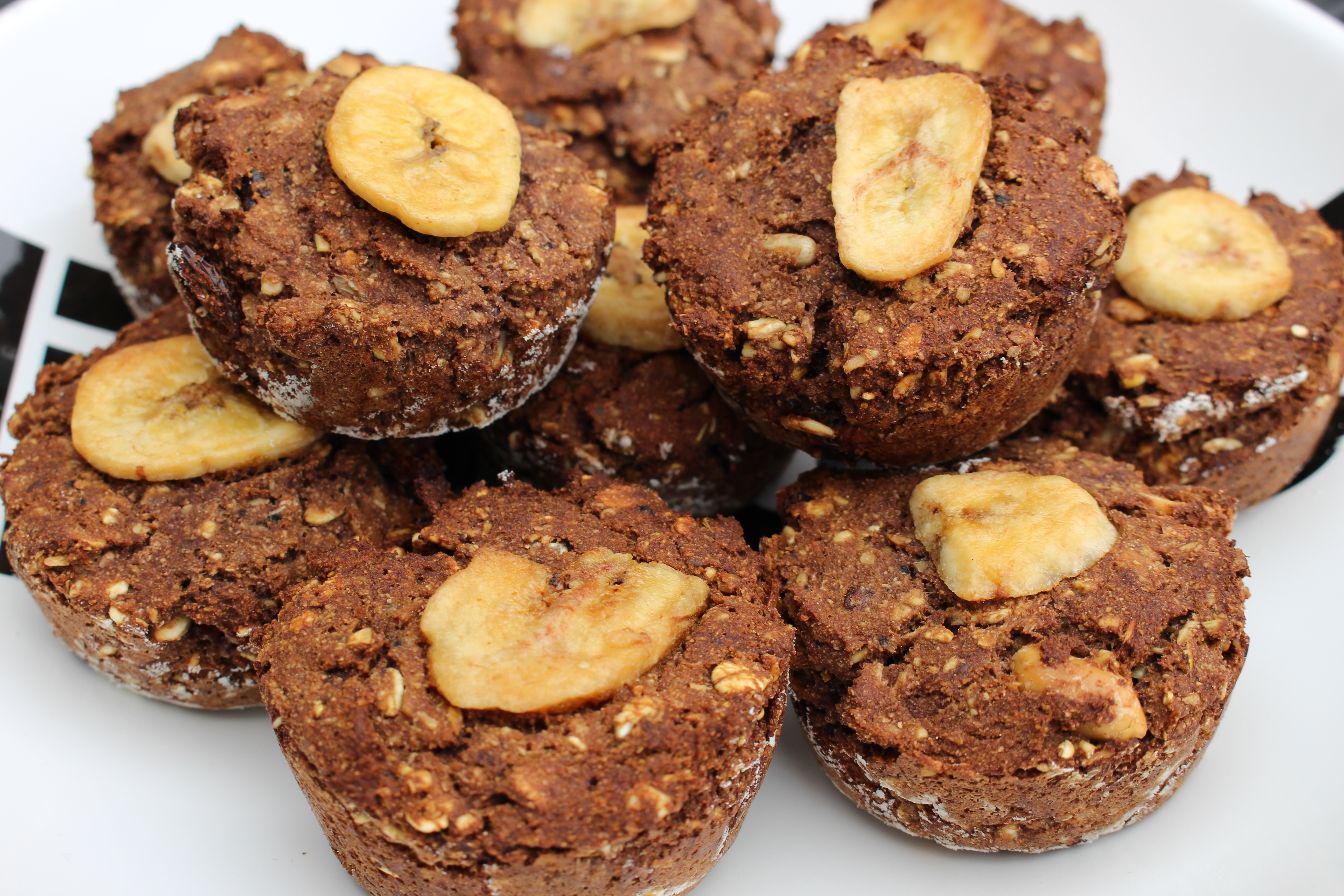 Eiwitrijke muesli-Nutellamuffins (V, F, E)