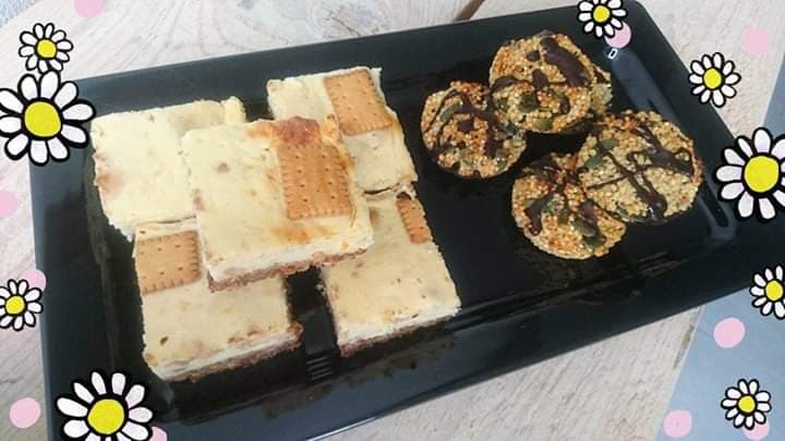 Sinaasappel-cheesecakebars