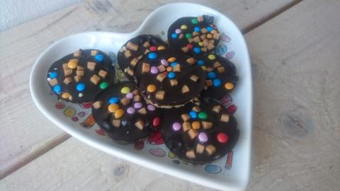 Aardbeienjam-koffiekoeken (GL, V, Vegan)